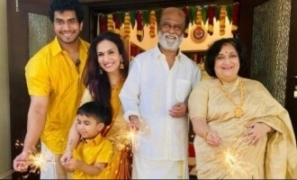 Superstar Rajinikanth's family Diwali celebration photos rock the internet