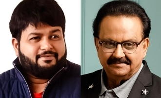 Thaman turns emotional and in tears seeing SPB video!