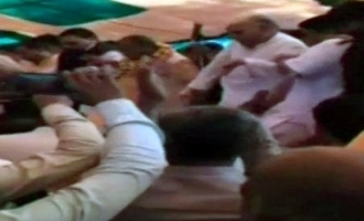 Video: Stage collapses at BJP event, party leaders injured
