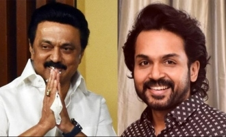 Karthi meet M K Stalin against central government Cinematograph amendment bill