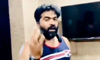 simbu work out video released by mahat is viral