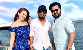 Simbu and Hansika shoot together!