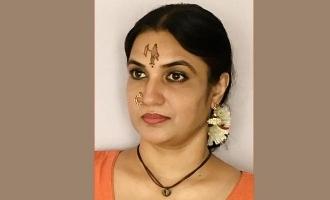 ராமர் திலகமிட்டு பக்தியை வெளிப்படுத்திய தமிழ் நடிகை!
