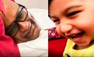 Suresh Chakravarthy turns into a baby for grandson in super cute video