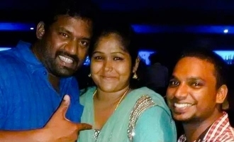 Surya Devi's fan moment with Nanjil Vijayan and Robo Shankar