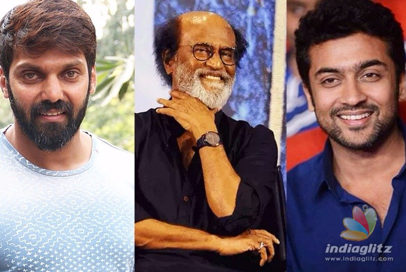 surya to give a surprise for rajini arya birthday tamil movie news