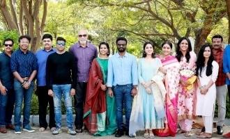 சூர்யா இல்லாமலே நடந்த 'சூர்யா 40' பட பூஜை: வைரல் புகைப்படங்கள்!