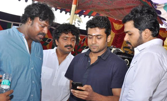 Suriya and  Vijay Sethupathi at Karthi's 'Kashmora' Launch