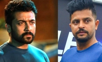 Surya paid condolence to Suresh Raina for his relatives demise