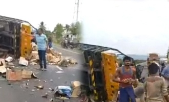 Lorry met accident which took load tasmac