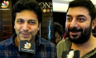 Aravind Swamy & Jayam Ravi Attends Thadam Premiere Show
