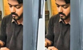 இணையத்தில் வைரலாகும் 'தளபதி 65' விஜய்யின் புதிய புகைப்படம்!