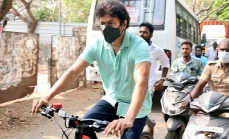 Real reason for Thalapathy Vijay riding bicycle to vote - Official clarification