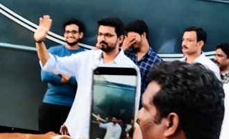 Vijay's sweet gesture for excited fans!