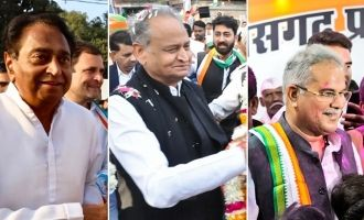 It's three-in-one for Congress as CMs are sworn in at MP, Rajasthan & Chattisgarh!