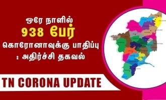 ஒரே நாளில் 938 பேர் கொரோனாவுக்கு பாதிப்பு: அதிர்ச்சி தகவல்