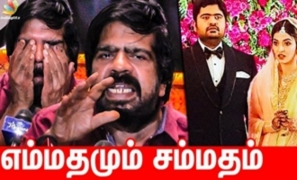 T.Rajendhar sheds tears of happiness on Kuralarasan wedding