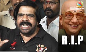 T Rajendar Emotional Speech at Cho Ramaswamy's Funeral