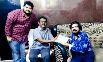 T.Rajendar invites Vijayakanth for Kuralarasan's wedding!