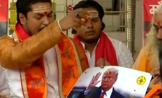 us presidential elections hindu sena members offer prayers for donald trump victory chalo chalo remix joe biden kamala harris