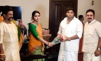 TTV Dinakaran daughter engagement photos viral in internet