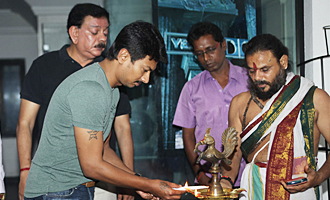 Udhayanidhi and Director Priyadarshan Movie Pooja