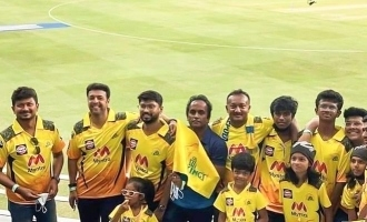 Udhayanidhi Stalin spotted watching CSK - KKR finals in Dubai