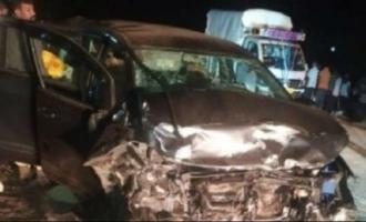 Actress Umashree car accident Smitha Kutty Shobha Kutty Sandeep Vibudhimat death