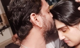 vanitha post a kiss image in her instagram page