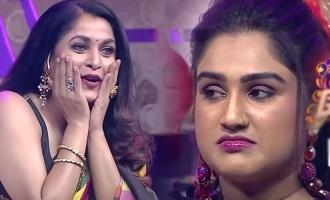 Ramya krishnan appreciate Jithan Ramesh and Samyuktha dance in BB Jodigal show