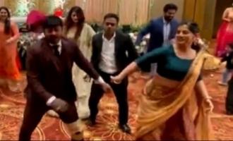 Varalaxmi Sarathkumar cute dance video and pics at her brother's wedding go viral