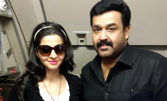 Vedhika wowed by Mohanlal