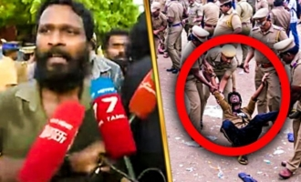 Police Attack on Vetrimaran - Cauvery Protest