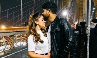 Vignesh Sivan share a kiss photo in his instagram