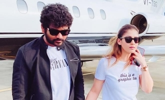 Vignesh Sivan and Nayanthara return to Chennai in private flight