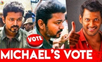Thalapathy Vijay Mass Entry at Nadigar Sangam Elections 2019