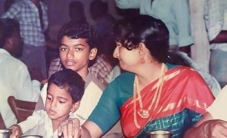 Vijay's nostalgic childhood photo with this hero turns viral!