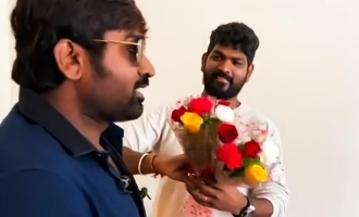 Vignesh Shivan shares a fun video with Vijay Sethupathi!