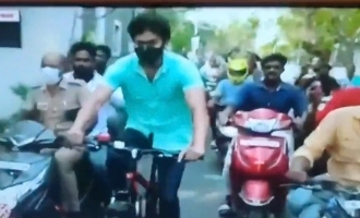 Actor Vijay came on a bicycle to cast his vote