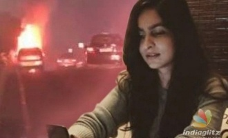 Shocking! Uber car carrying Vijay's stylist burns to ashes