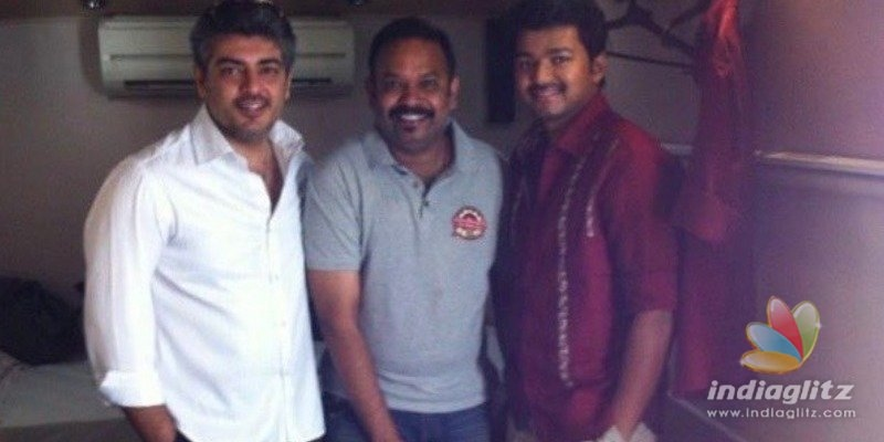 Siblings Day special Thala-Thalapathy bonding pic released by Venkat Prabhu