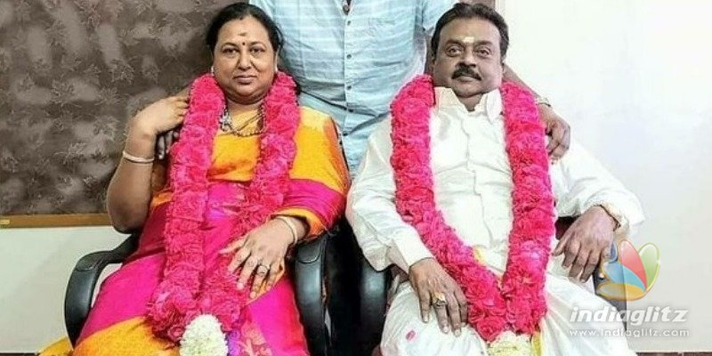 Captain Vijayakanth celebrates his wedding anniversary in private
