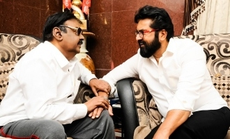 Sarathkumar meets Captain Vijayakanth!