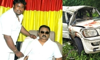 Vijayakanth party person died in accident