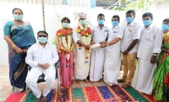 Captain Vijayakanth officiates masked wedding amidst coronavirus Janata Curfew