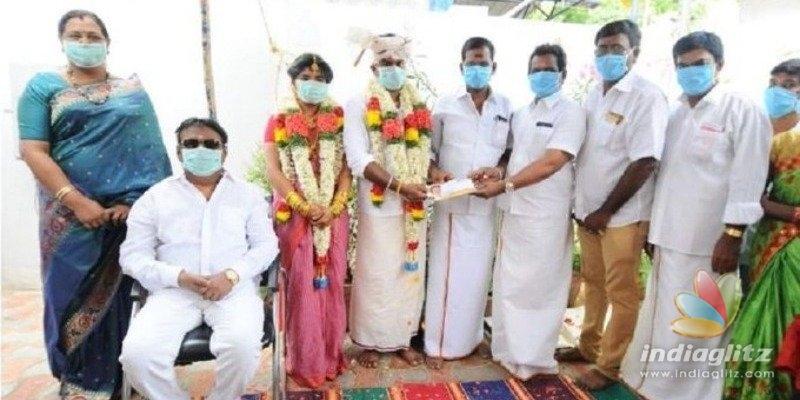 Captain Vijayakanth conducts masked wedding amidst coronavirus Janata Curfew