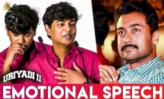 Reason Why Suriya Produced Uriyadi 2 ? : Director Vijay Kumar Emotional Speech