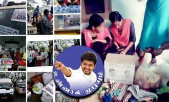 Thalapathy Vijay fans help Kerala flood Kerala rains Kerala flood victims