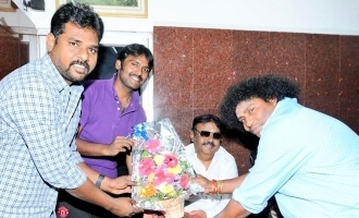 Actor Yogibabu meet Captain vijayakanth today