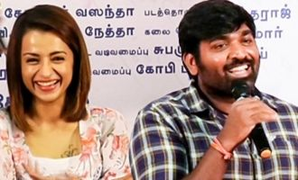 I'm scared of Trisha from a young age: Vijay Sethupathi Funny Speech